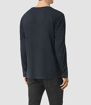 Uomo Tavern Long Sleeve Crew T-Shirt (Workers Blue) - product_image_alt_text_2