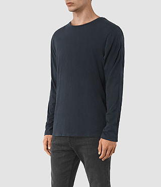Uomo Tavern Long Sleeve Crew T-Shirt (Workers Blue) - product_image_alt_text_3
