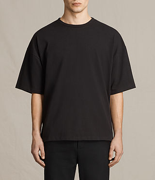 Hommes Ivon Short Sleeve Crew Sweater (Washed Black)