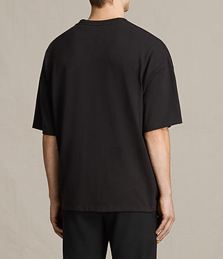 Men's Ivon Crew T-Shirt (Washed Black) - product_image_alt_text_3