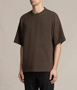 Men's Ivon Crew T-Shirt (Khaki Brown) - product_image_alt_text_2