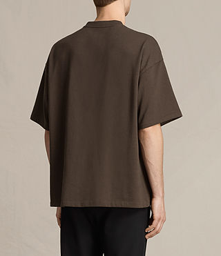 Men's Ivon Crew T-Shirt (Khaki Brown) - product_image_alt_text_3