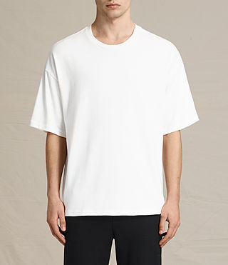 Hommes Ivon Short Sleeve Crew Sweater (Chalk White)