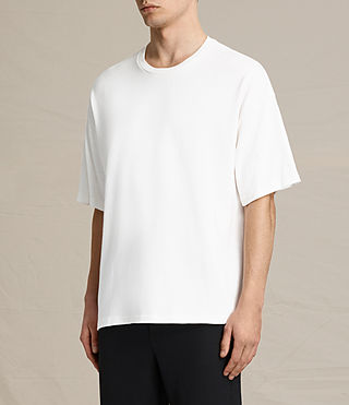 Men's Ivon Crew T-Shirt (Chalk White) - product_image_alt_text_2