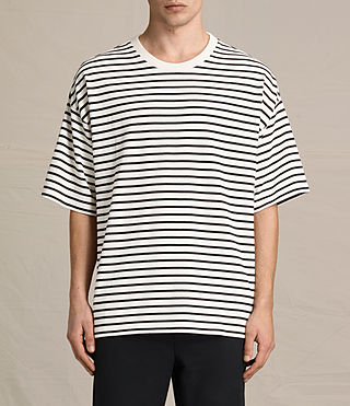 Mens Ivan Crew T-Shirt (BLACK/ECRU WHITE) - product_image_alt_text_1