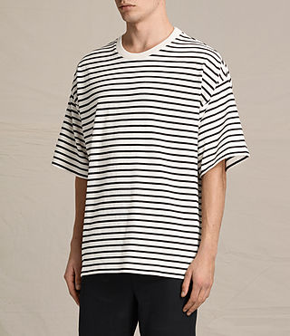 Mens Ivan Crew T-Shirt (BLACK/ECRU WHITE) - product_image_alt_text_2