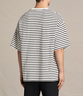 Mens Ivan Crew T-Shirt (BLACK/ECRU WHITE) - product_image_alt_text_3