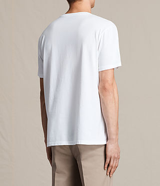 Mens Jefris Crew T-Shirt (Optic White) - product_image_alt_text_4