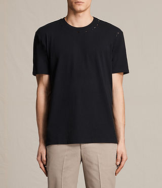 Mens Jefris Crew T-Shirt (Jet Black) - product_image_alt_text_1