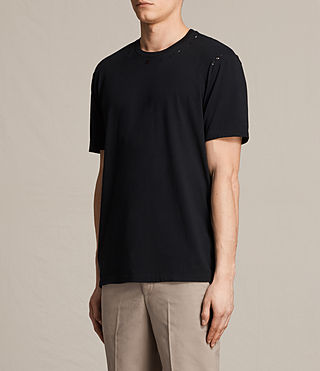 Mens Jefris Crew T-Shirt (Jet Black) - product_image_alt_text_3