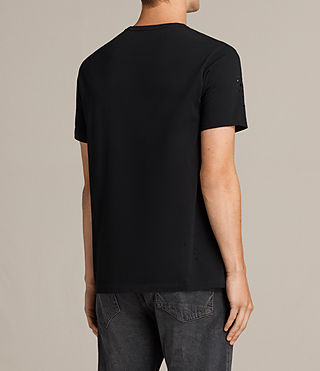 Men's Agnar Crew T-Shirt (Jet Black) - Image 4