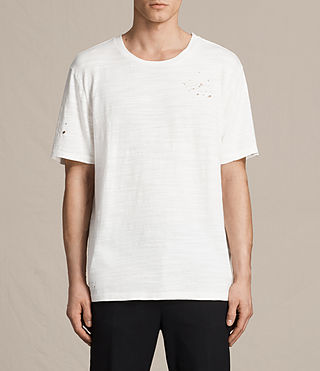 Mens Archie Crew T-Shirt (Chalk White)