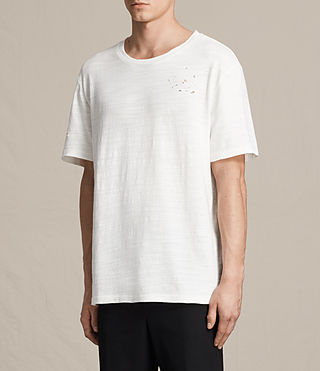 Men's Archie Crew T-Shirt (Chalk White) - product_image_alt_text_3