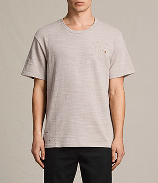 Mens Archie Crew T-Shirt (ALMOND GREY) - product_image_alt_text_1