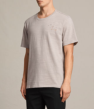 Mens Archie Crew T-Shirt (ALMOND GREY) - product_image_alt_text_3