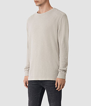 Mens Stack Long Sleeve Crew T-Shirt (Ash Grey) - product_image_alt_text_2