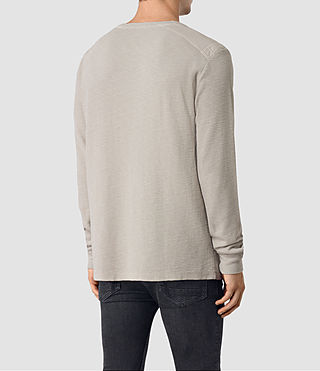 Mens Stack Long Sleeve Crew T-Shirt (Ash Grey) - product_image_alt_text_3
