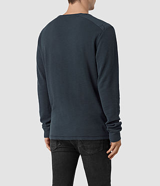 Mens Stack Long Sleeve Crew T-Shirt (Workers Blue) - product_image_alt_text_3