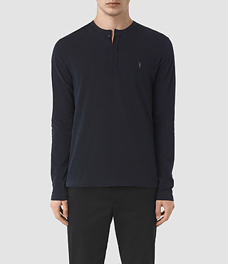 Uomo Mesa Long Sleeve Henley T-Shirt (INK NAVY) -