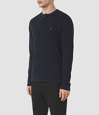 Uomo Mesa Long Sleeve Henley T-Shirt (INK NAVY) - product_image_alt_text_2