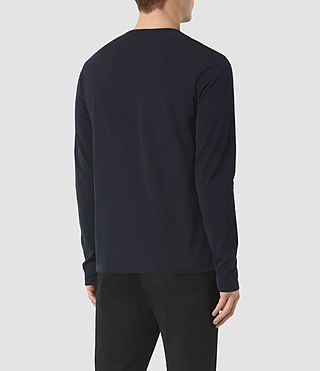 Uomo Mesa Long Sleeve Henley T-Shirt (INK NAVY) - product_image_alt_text_3