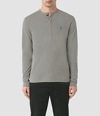 Hombres Mesa Long Sleeve Henley T-Shirt (Putty Brown)