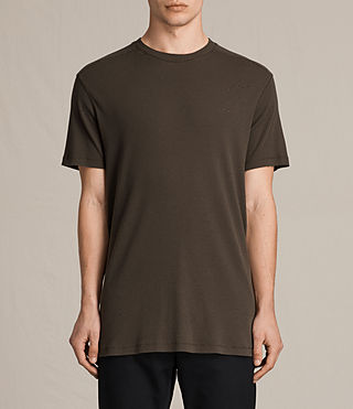 Mens Bryan Crew T-Shirt (Khaki Brown) - product_image_alt_text_1