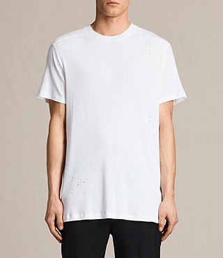 Mens Bryan Crew T-Shirt (Chalk White) - product_image_alt_text_1