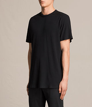 Men's Bryan Crew T-Shirt (Jet Black) - product_image_alt_text_3