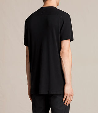 Men's Bryan Crew T-Shirt (Jet Black) - product_image_alt_text_4
