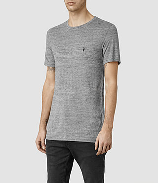 Hombres Meter Tonic Crew T-Shirt (Charcoal Mouline) - product_image_alt_text_2