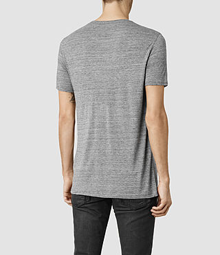 Hombres Meter Tonic Crew T-Shirt (Charcoal Mouline) - product_image_alt_text_3