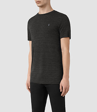 Mens Meter Tonic Ss Crew (Cinder Black Marl) - product_image_alt_text_3