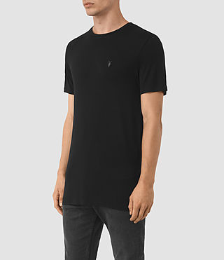 Uomo Meter Tonic Crew T-Shirt (Jet Black) - product_image_alt_text_3
