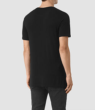 Hombres Meter Tonic Crew T-Shirt (Jet Black) - product_image_alt_text_4