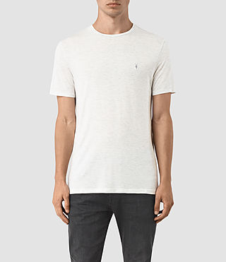 Herren Meter Tonic Crew T-Shirt (Light Grey Marl)