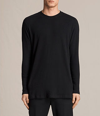 Men's Bryan Long Sleeve Crew T-Shirt (Jet Black) -