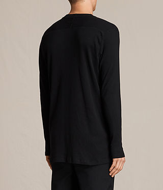 Men's Bryan Long Sleeve Crew T-Shirt (Jet Black) - product_image_alt_text_4