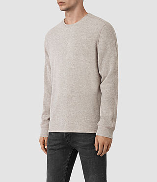 Mens Crux Long Sleeve Crew T-Shirt (TAUPE MRL/ASH GREY) - product_image_alt_text_2