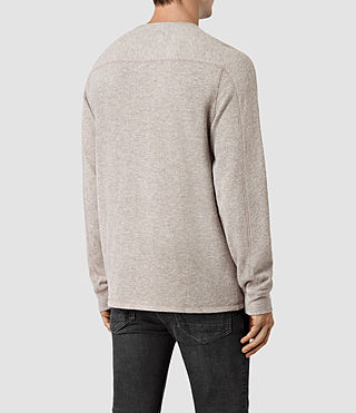 Mens Crux Long Sleeve Crew T-Shirt (TAUPE MRL/ASH GREY) - product_image_alt_text_3