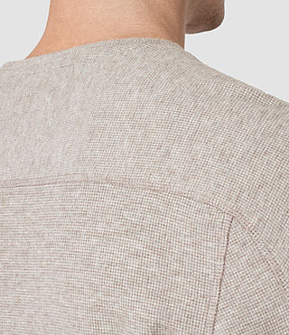 Hombre Crux Long Sleeve Crew T-Shirt (TAUPE MRL/ASH GREY) - product_image_alt_text_4