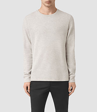 Men's Crux Long Sleeve Crew T-Shirt (CHLK WHITE/ASH GRY)