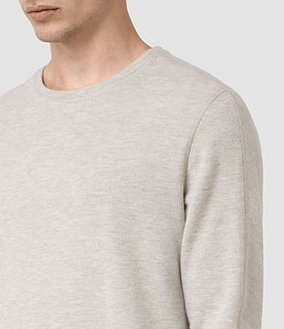 Hommes Crux Long Sleeve Crew T-Shirt (CHLK WHITE/ASH GRY) - product_image_alt_text_2