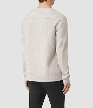 Hommes Crux Long Sleeve Crew T-Shirt (CHLK WHITE/ASH GRY) - product_image_alt_text_4