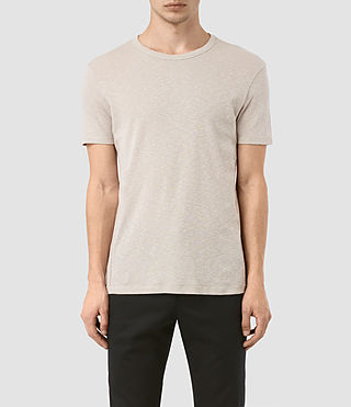 Herren Aries Crew T-Shirt (Ash Grey) -
