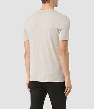 Herren Aries Crew T-Shirt (Ash Grey) - product_image_alt_text_3