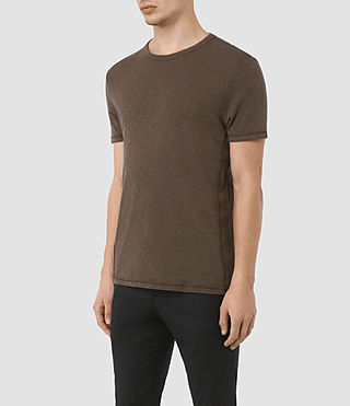 Hombres Aries Ss Crew (Khaki Brown) - product_image_alt_text_2