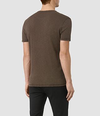 Hombres Aries Ss Crew (Khaki Brown) - product_image_alt_text_3