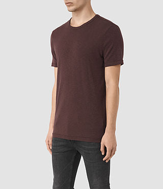 Uomo Aries Crew T-Shirt (Damson Red) - product_image_alt_text_2