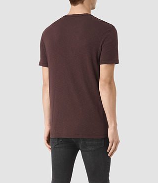 Uomo Aries Crew T-Shirt (Damson Red) - product_image_alt_text_3